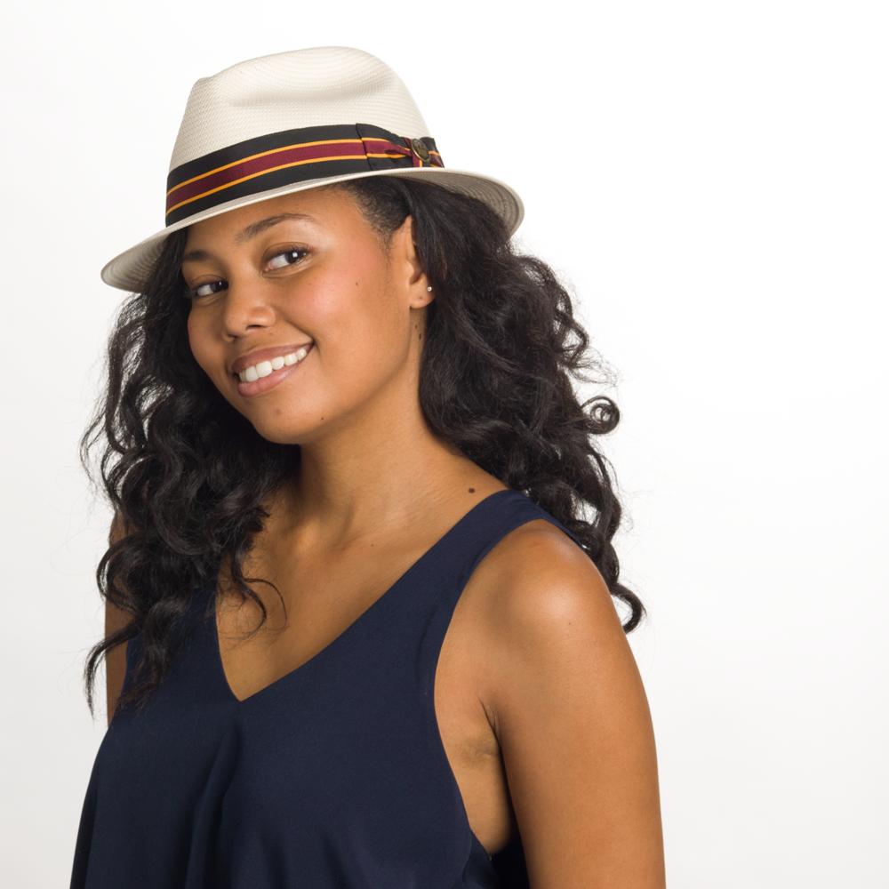 Goorin Louis Louisiana Fedora Hat in White, size 2XL