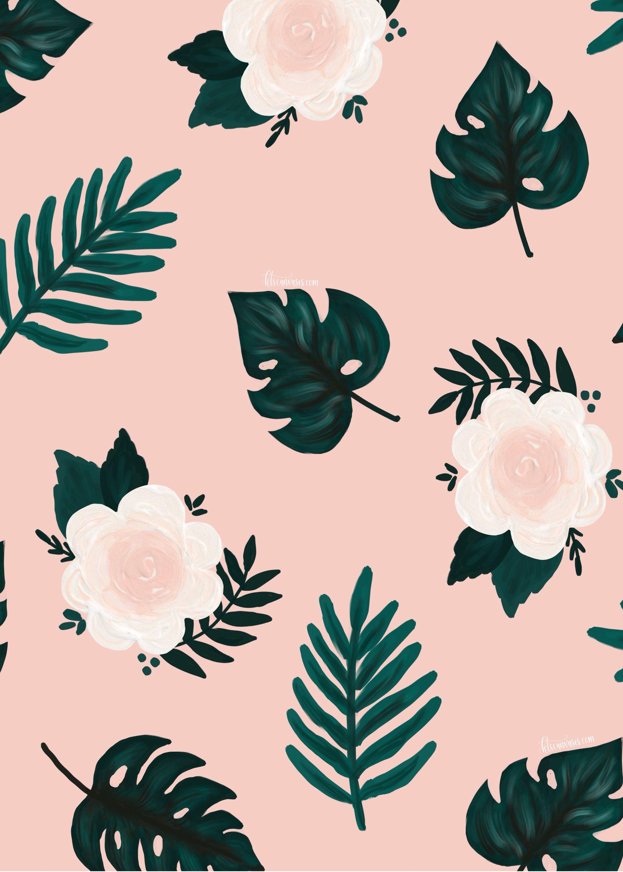 Tropical Leaf Prints Tropical Print Summer Wall Art Nursery Etsy In 2021 Summer Wall Art Leaves Wallpaper Iphone Flower Wallpaper