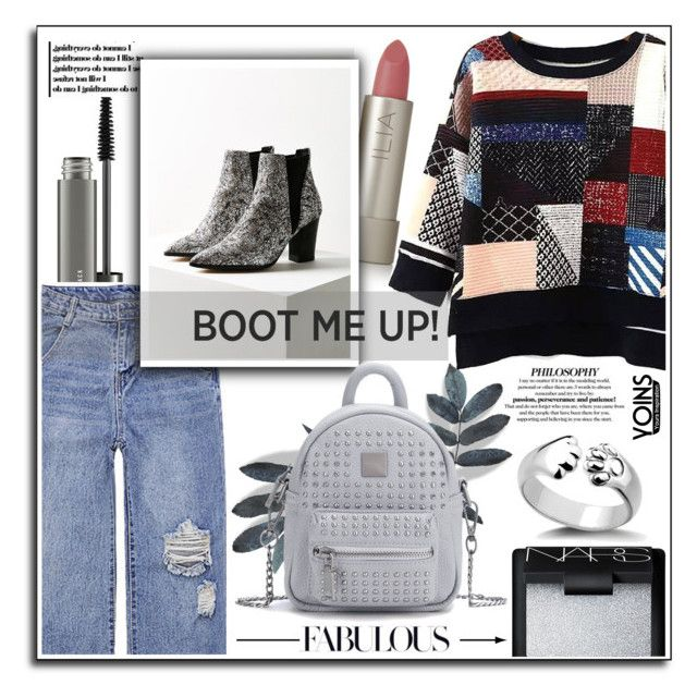 """Chelsea boots w/ Yoins collection."" by patria ❤ liked on Polyvore featuring MAC Cosmetics, Ilia, NARS Cosmetics, chelseaboots and yoins"