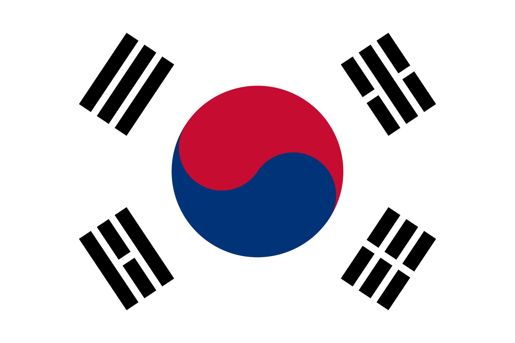 Corea del Sud - South Korea | Korean flag, South korean flag, South korea flag