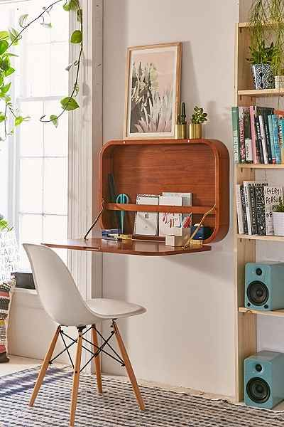 a very cool wall desk perfect for small spaces