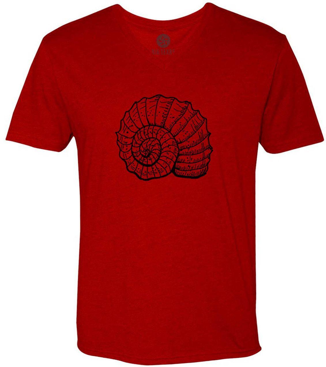 Spiral Sea Shell (Black) Short-Sleeve V-Neck T-Shirt