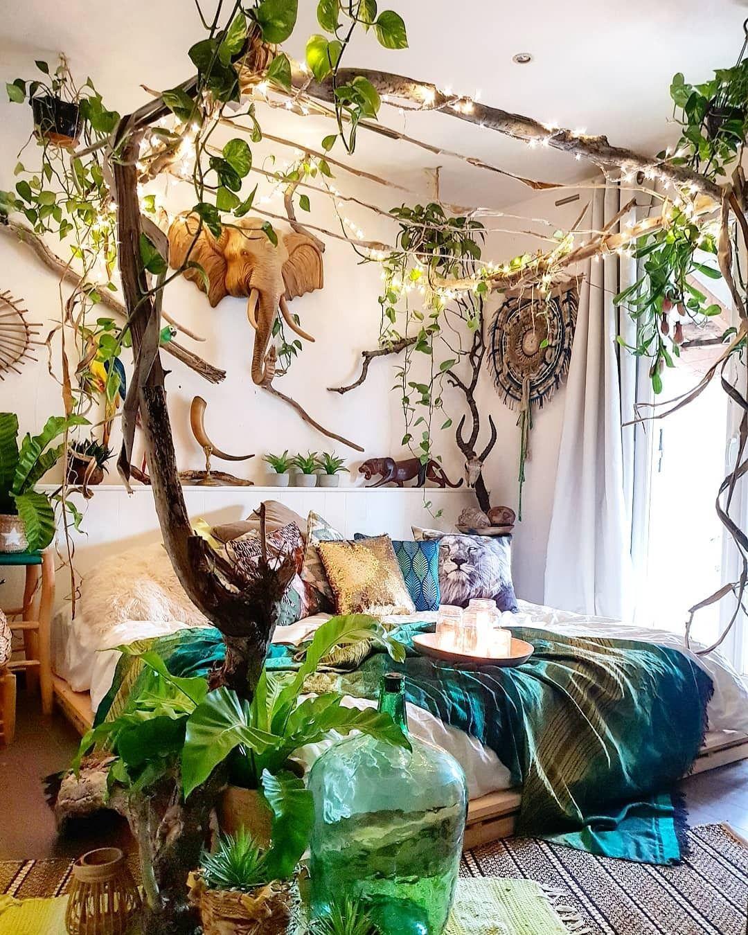 Urban Jungle: Photo  Jungle room decor, Jungle bedroom, Jungle