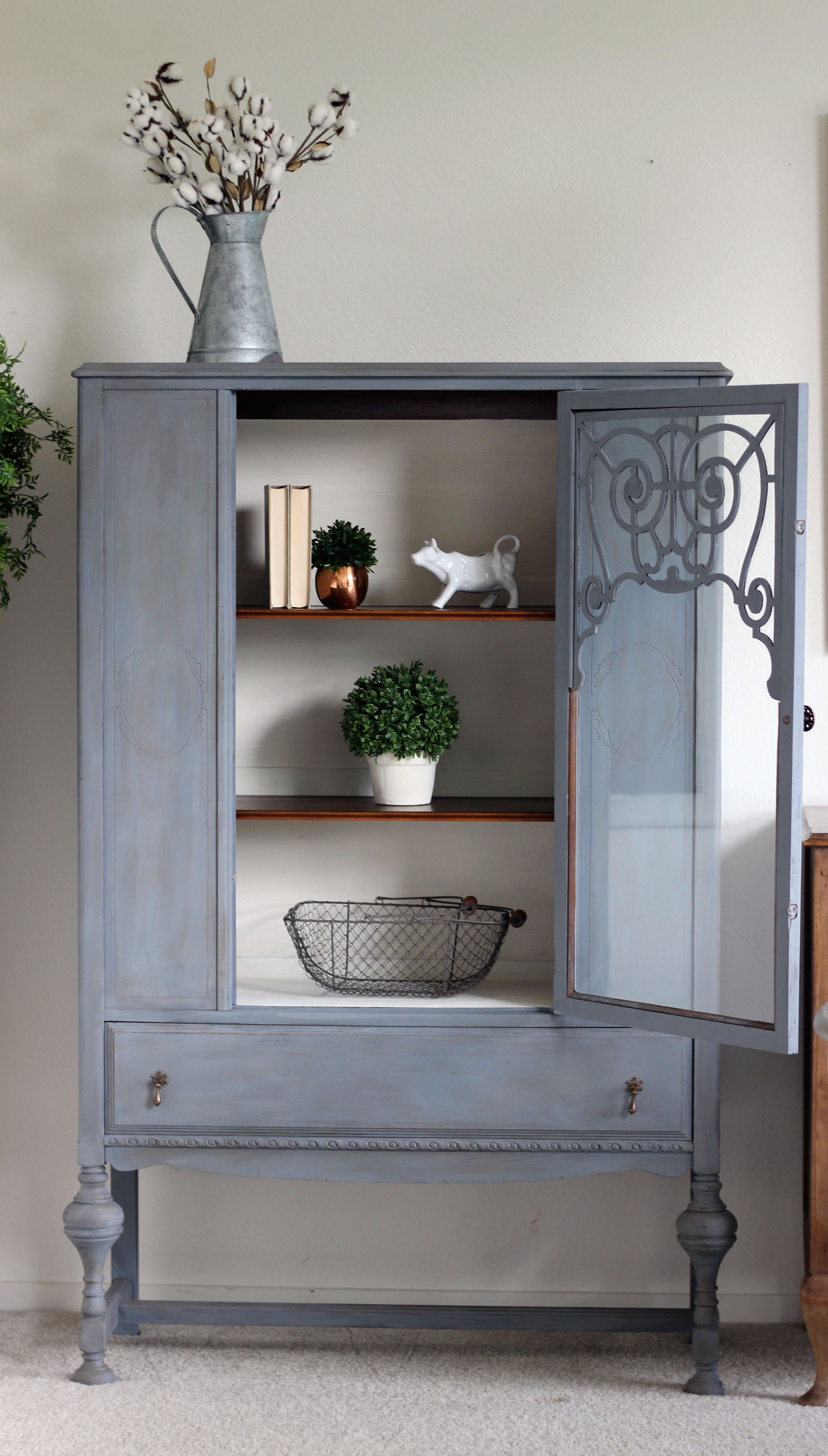 A Modern Twist on an Antique China Cabinet Makeover