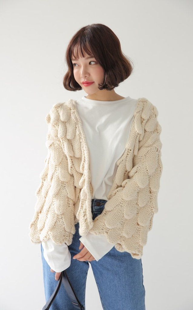 3aca194f8c60 2018 Winter Girls Cardigan Loose Knitted Pull Femme Women Cardigan Sweater  Clothes Blue Beige Jumper Autumn Cardigans Feminino