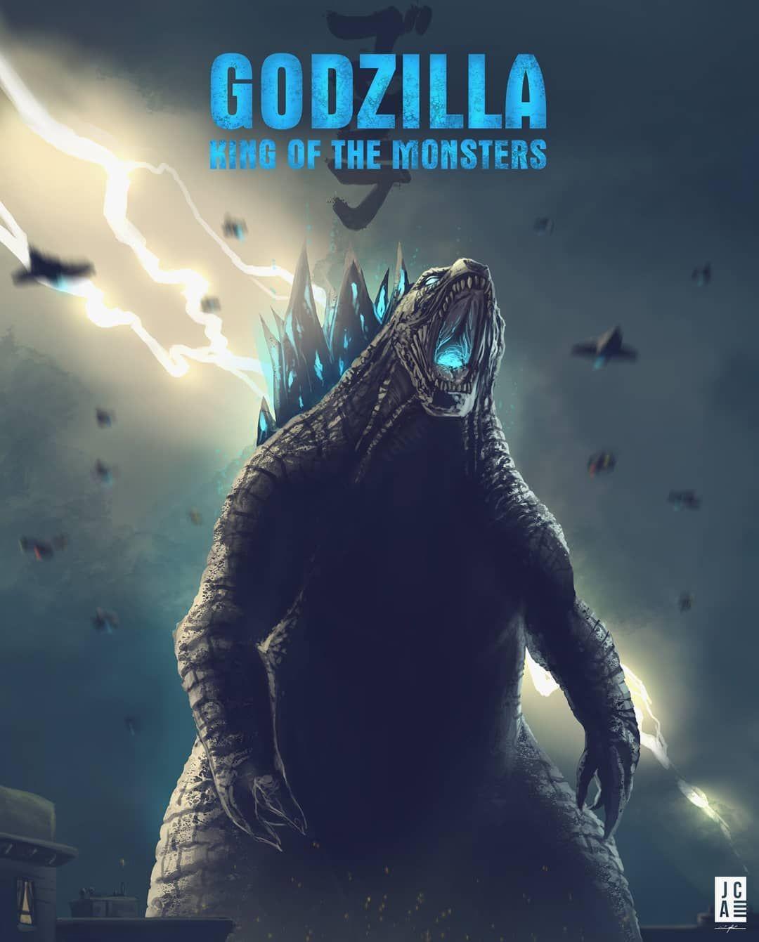 The King Himself I Thought I D Draw A Quick Godzilla Movie Poster After Watching The Trailer The Whole Thing Looks Super Ep Godzilla Godzilla 2 Kong Godzilla