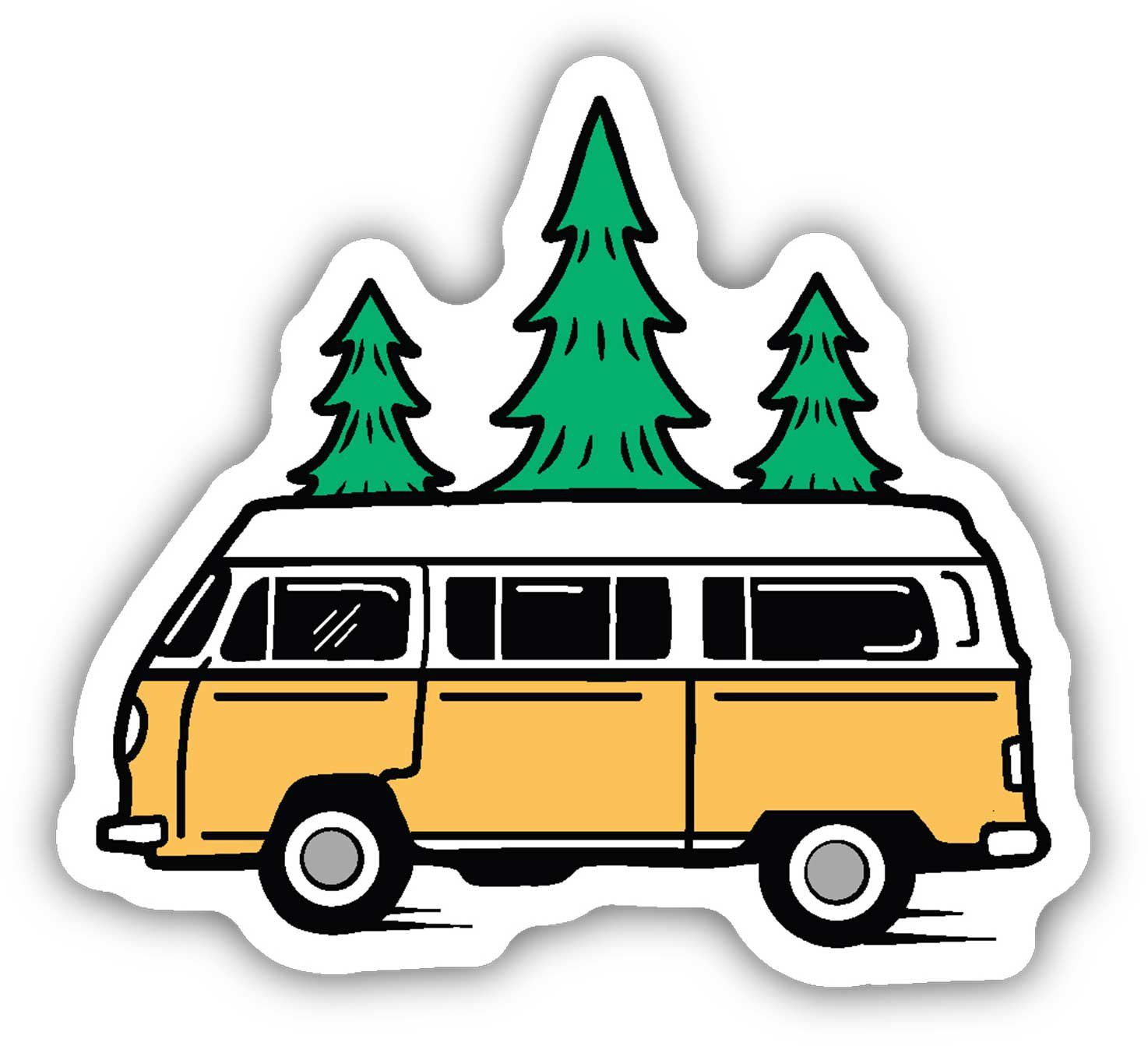 Take a piece of the great outdoors with you wherever you go with the Stickers Northwest Bus and Trees Sticker. This weatherproof sticker is suitable for your water bottle, laptop, or car, easily installing to clean, dry surfaces. The bright and colorful graphic is perfect for any lover of the outdoors. It is made in the USA. DESIGN Perfect for the outdoors-lover Weatherproof Easily installs to clean, dry, surfaces Good for car, laptop, or water bottle Made in the USA Additional Details Style: 30