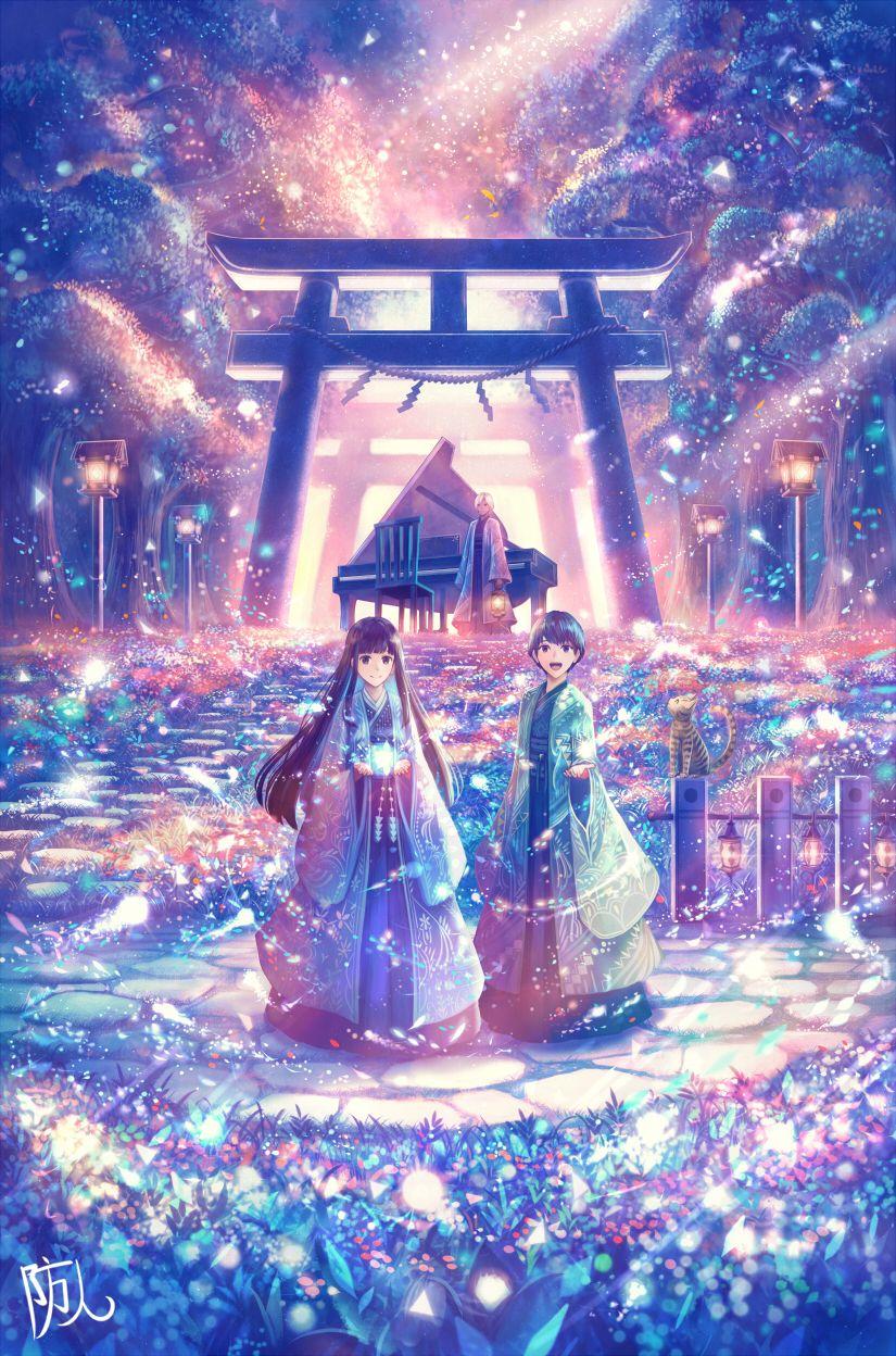 鳥居の向こうは 知らない世界でした 2 Beyond The Torii It Was A World I Did Not Know 2 By Sakimori イラスト ミッキーマウスの壁紙 幻想的なイラスト