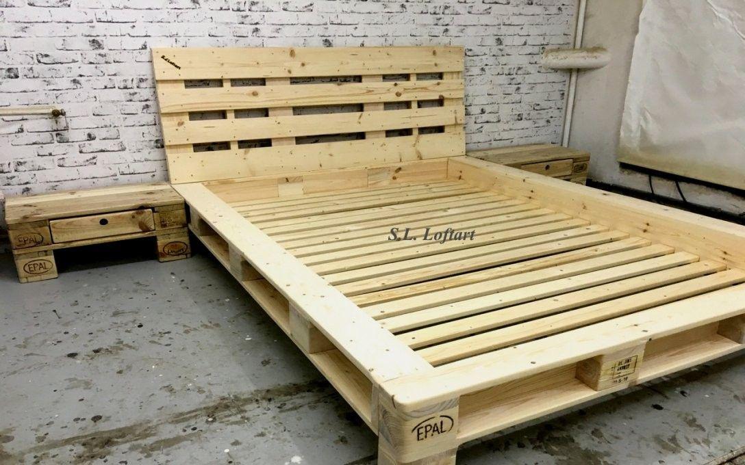 Awesome Ideas Paletten Bett 140x200 Elegantes Selber Bauen Kreativ In 2020 Bett Selber Bauen Anleitung Palettenbett Europaletten Bett
