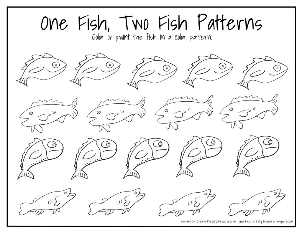 Dr Seuss Birthday March 2nd Fish patterns, Math and School