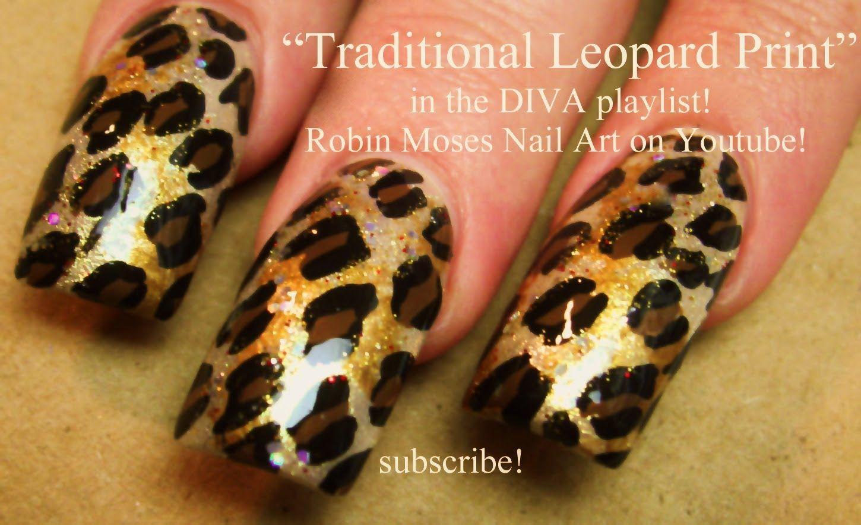 3 Nail Art Design Traditional Leopard Print Design Diva Nail
