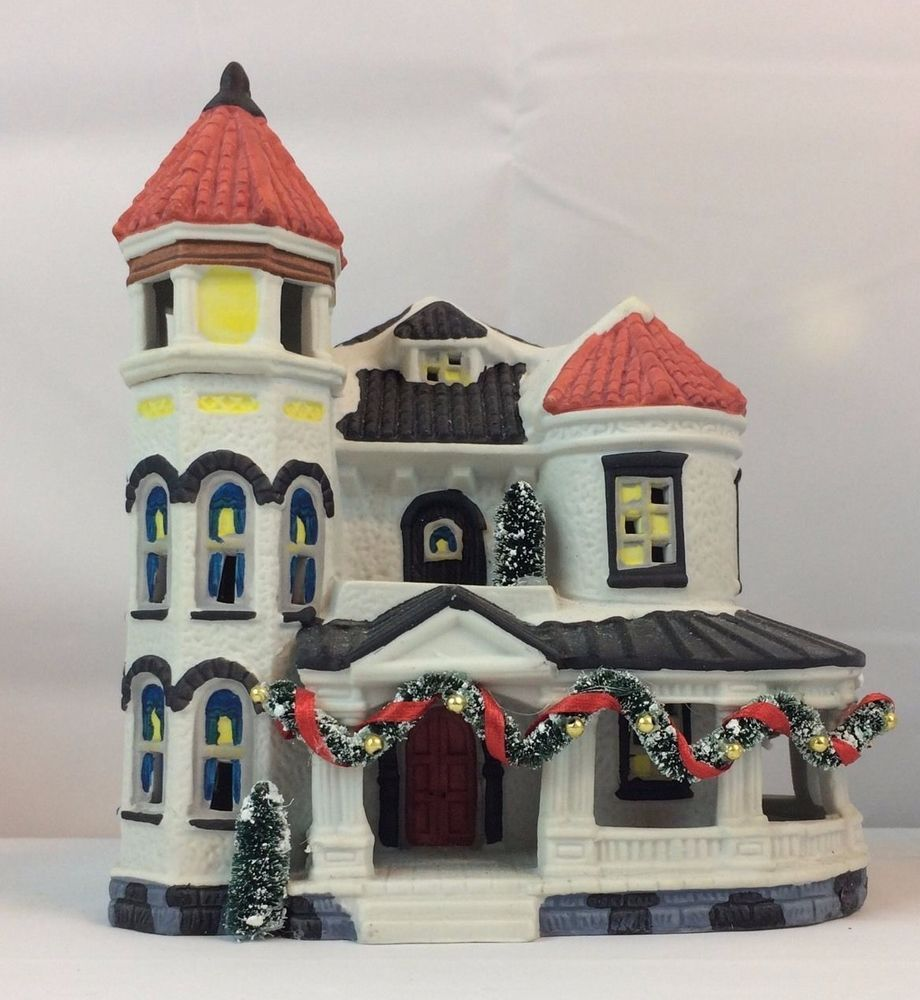 NOMA Dickensville Collectables Porcelain House Maison Christmas Victorian House #NOMA