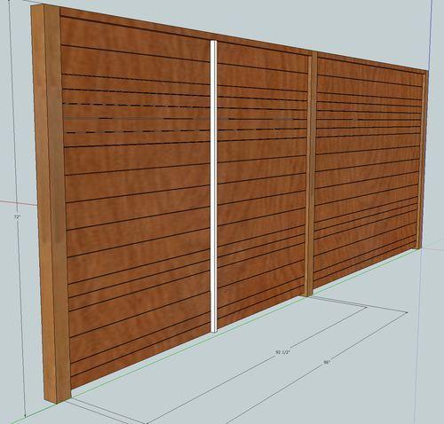 Horizontal Fence Diy: Horizontal Wood Fence Building