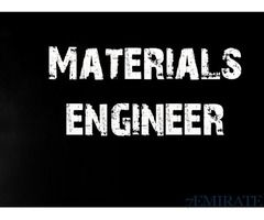 Materials Engineer Required For Engineering Consultant Firm Job