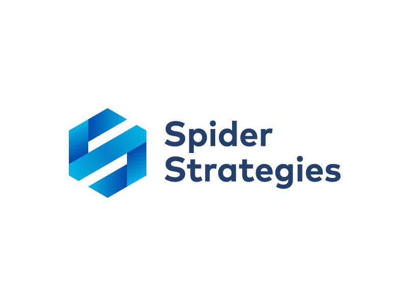 Spider Strategies Logo & Stationary | Hexagon logo, Logo design, Logos