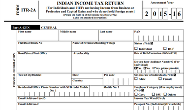 How To Download Itr Form Online  Government    Income