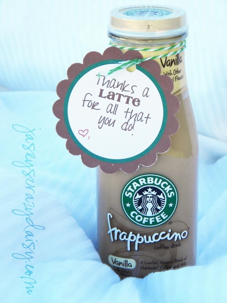 Thanks a latte appreciation gift thank you gift idea for just about