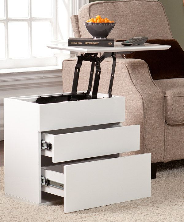 Look At This White Lift Top Side Table On Zulily Today Sofa