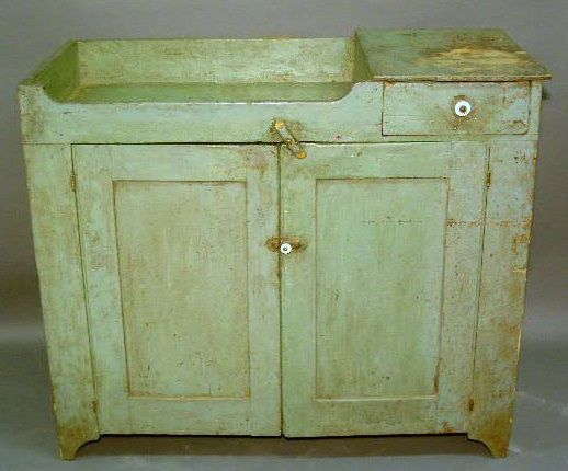 465 Pennsylvania Dry Sink C1860 With Green Paint De On