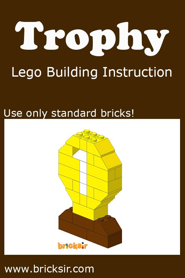 Small Trophy Lego Building Instructions, using only standard ...