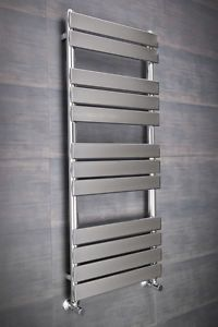 New Minimalist Bathroom Heated Towel Rail Radiator 1200 X 500 Chrome