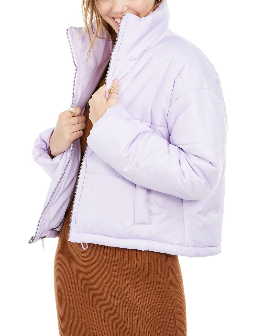 Juniors Cropped Puffer Coat [ 1374 x 1125 Pixel ]