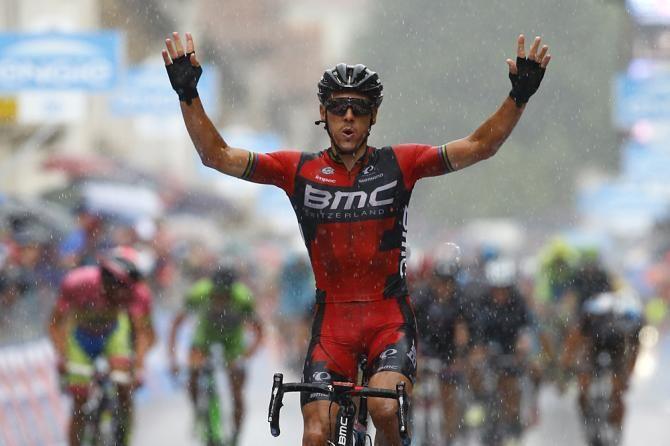 #PhilippeGilbert (#BMC) wins #stage12 in #Vicenza! #Giro #Giro2015 #Giroditalia