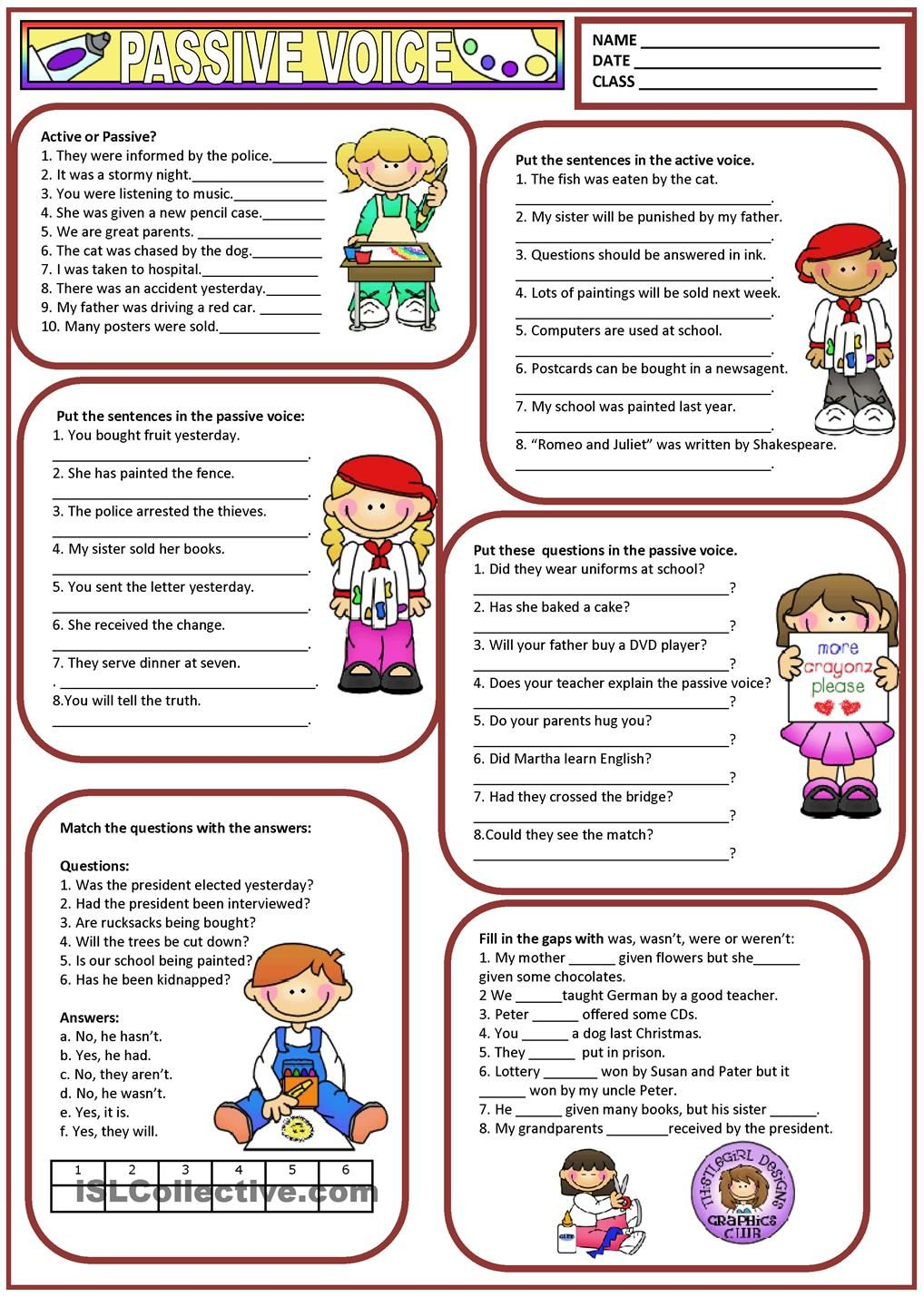 Worksheets Passive Voice Worksheet passive voice education pinterest english grammar and voice