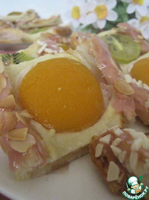 Творожно-фруктовые слойки - кулинарный рецепт