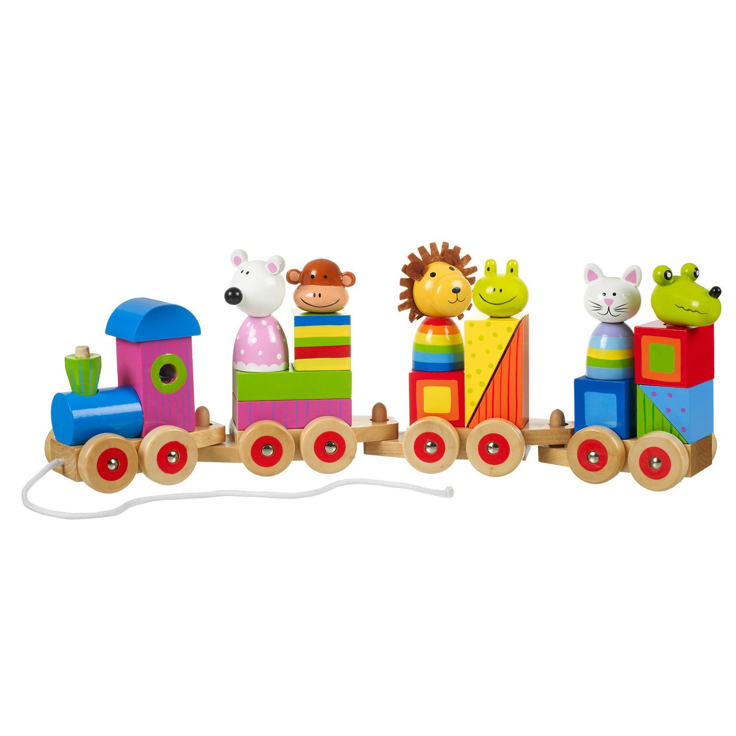 Keep your child delighted and amused with this fun wooden train