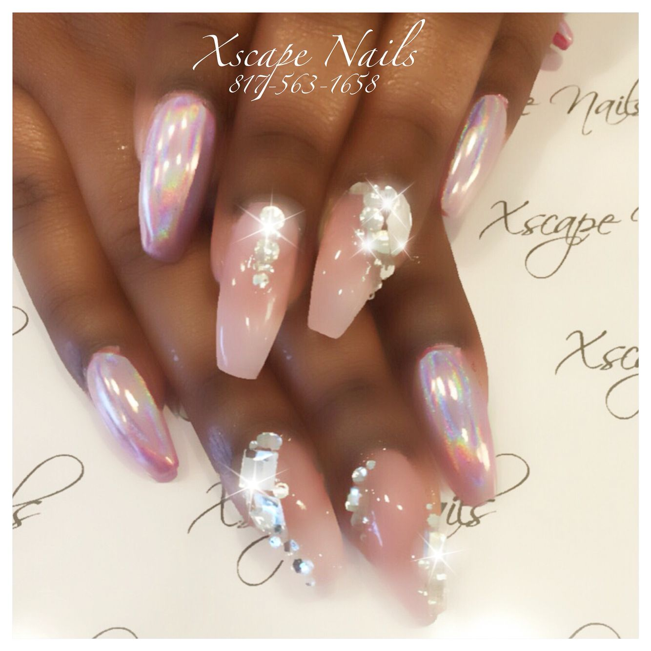 Halo pink chrome nails | Cute Nails Designs | Pinterest | Pink ...