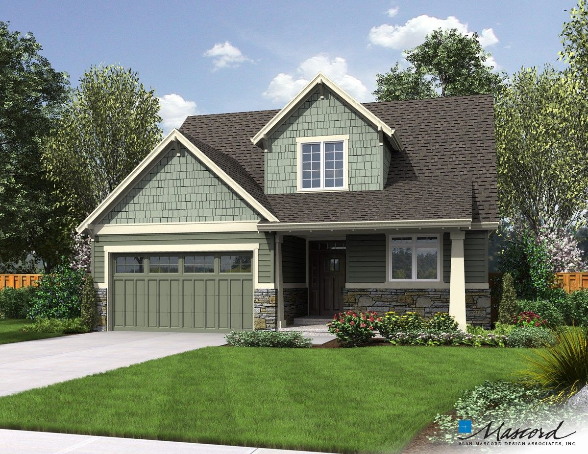 Mascord House Plan 2185ab The Scappoose Craftsman Style House Plans Craftsman House Plans Craftsman House