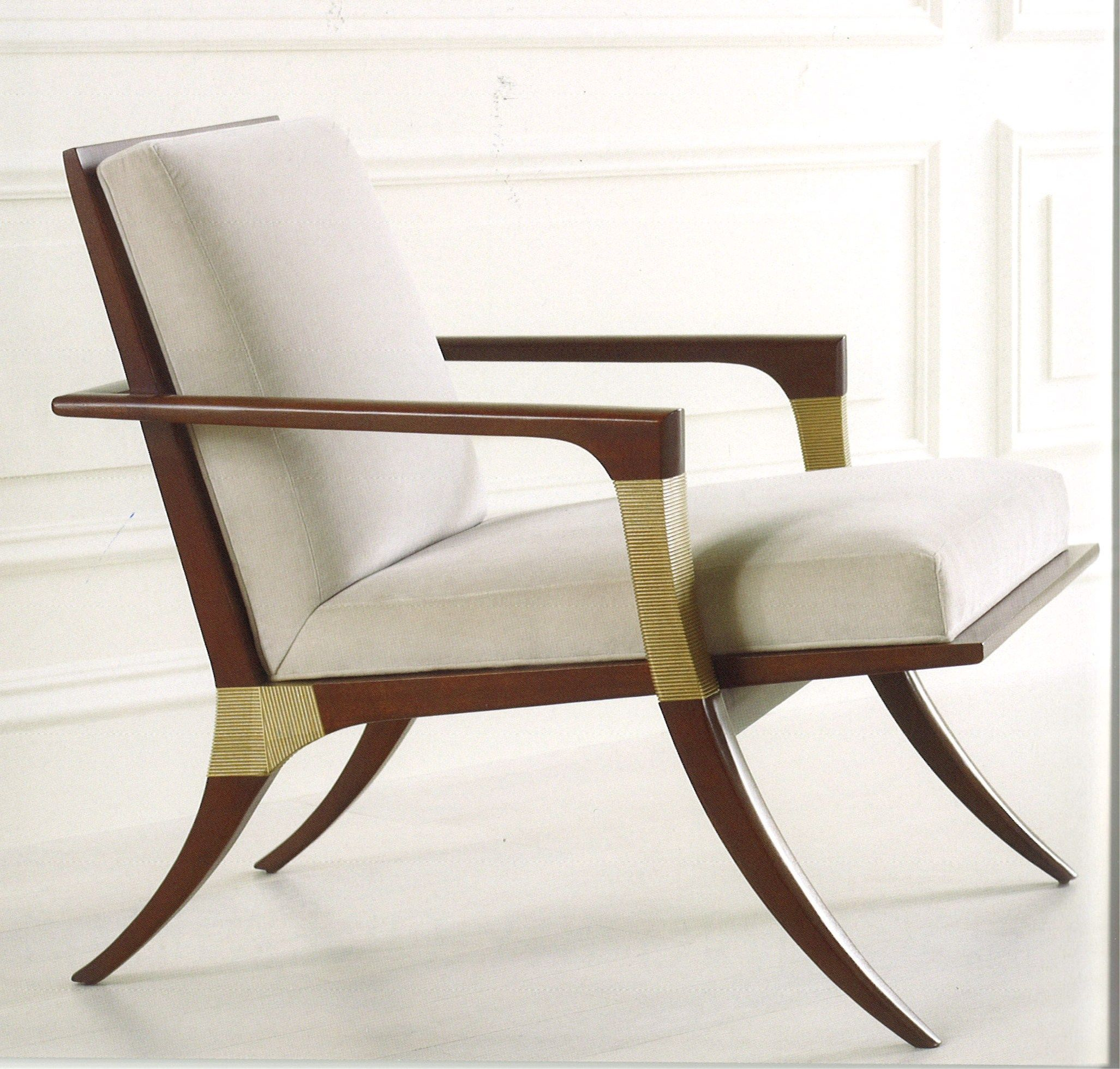 baker tufted dining chairs wood leg white accent thomas pheasant collection athens lounge chair