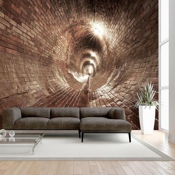 Carta Da Parati In 3d.Carta Da Parati 3d Underground Corridor Carta Da Parati Living