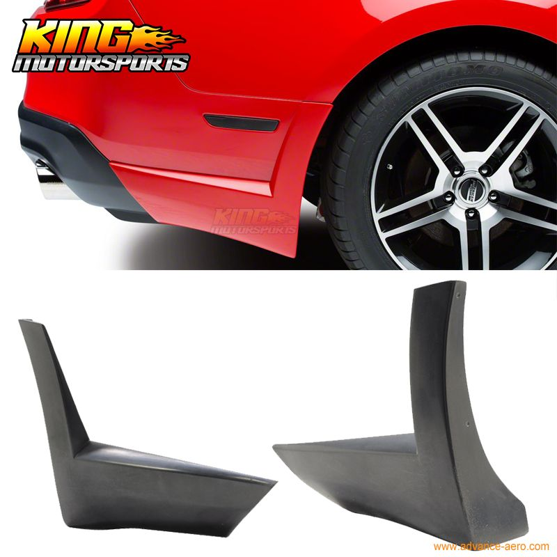 For 2010 2012 Ford Mustang V6 Rear Bumper Lip Aprons 2 Piece Auto Replacement Parts Ford Mustang V6 2012 Ford Mustang Ford Mustang