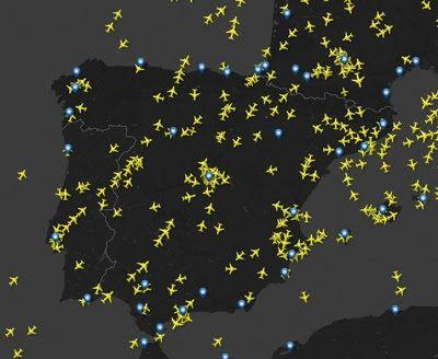 Seguimiento De Vuelos En Tiempo Real Vuelos Tiempos Cartografía