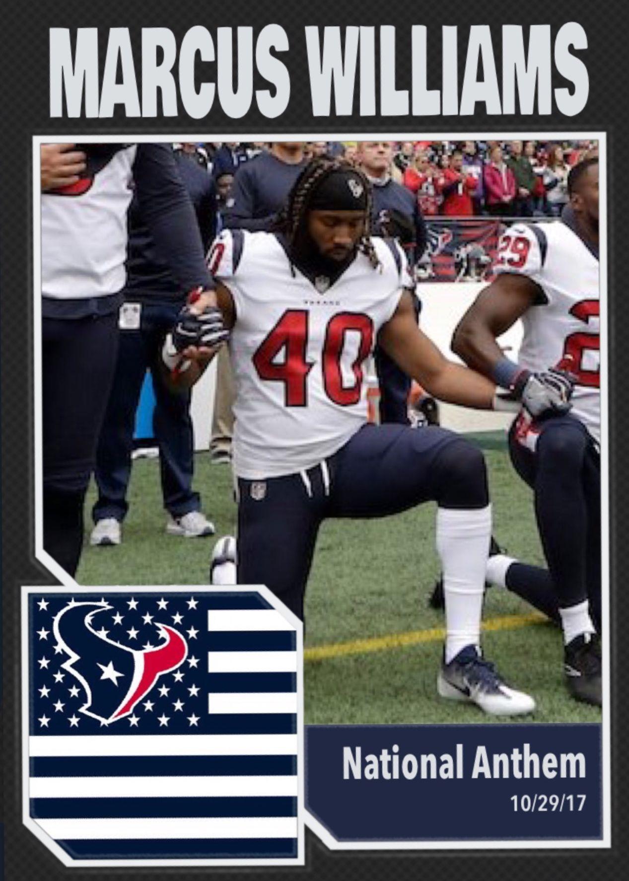 Marcus Williams Houston Texans National Anthem 10 29 17 Imwithkap William Houston National Anthem Anthem