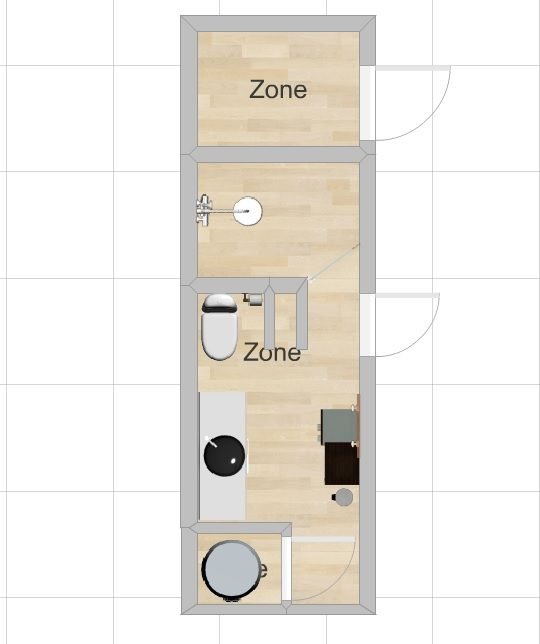 6 x 16 small bathroom/closet blueprint with water heater ...