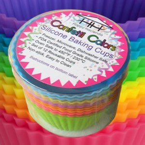 Colorful Silicone Baking Cups!