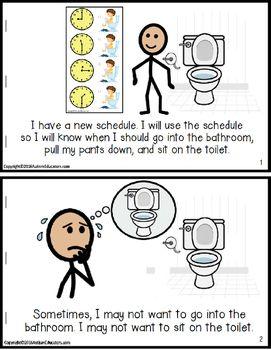 LIFE SKILLS Toilet Training Visuals Kit and Social Story f