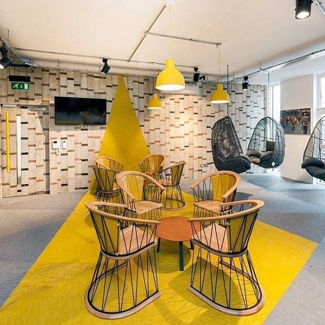 Customized Triangles In Nandos Office Manchester UK Bolonflooring Bolon Flooring