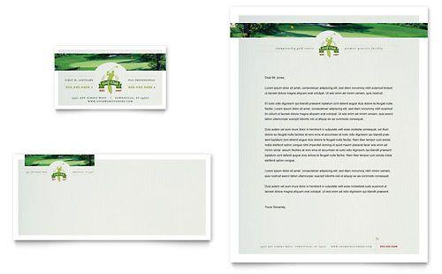 Golf Letterhead  Marketing    Letterhead Template