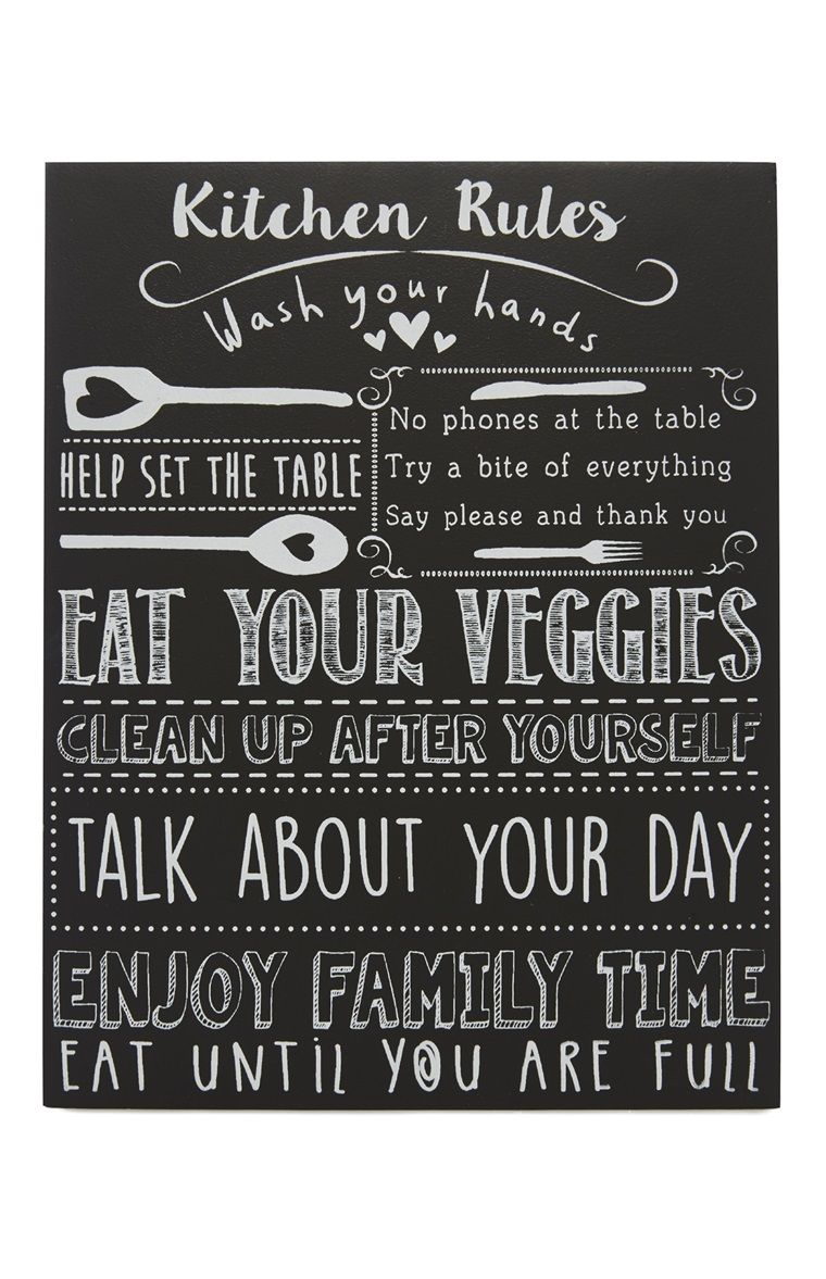 Cucina Kitchen Sign Primark Kitchen Rules Plaque Signs Pinterest Kitchen Rules