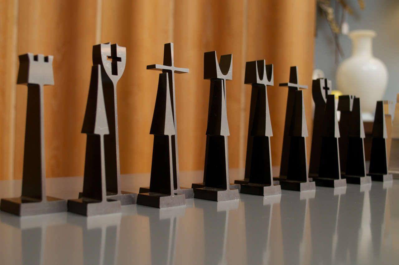 mid-century modern chess set | chess sets, chess and mid-century