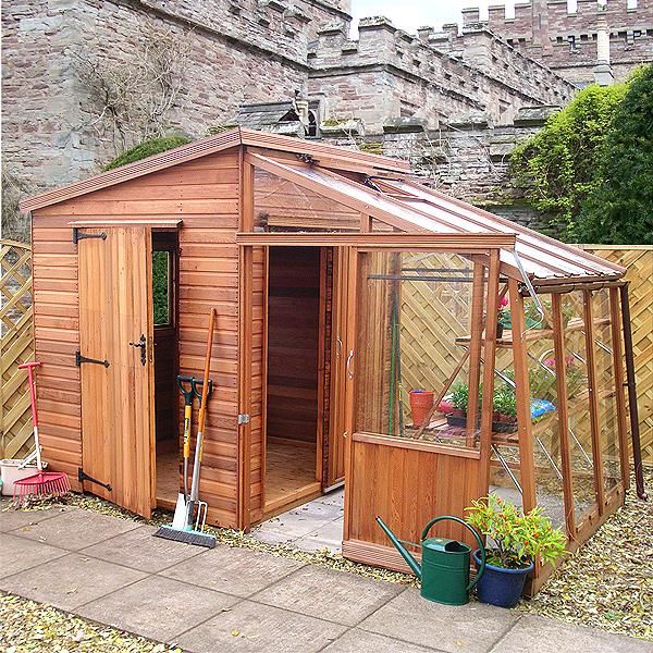 The Malvern Retreat greenhouse is a combination fo shed and