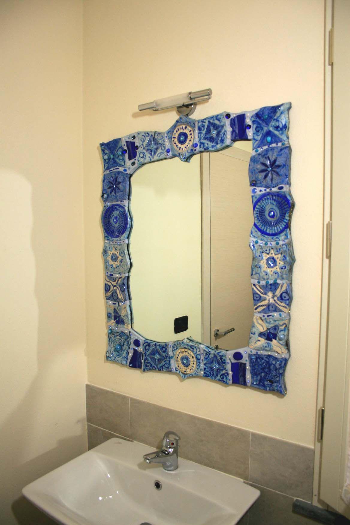 Specchi incantevoli, pezzi unici, creati in ceramica raku, con ...