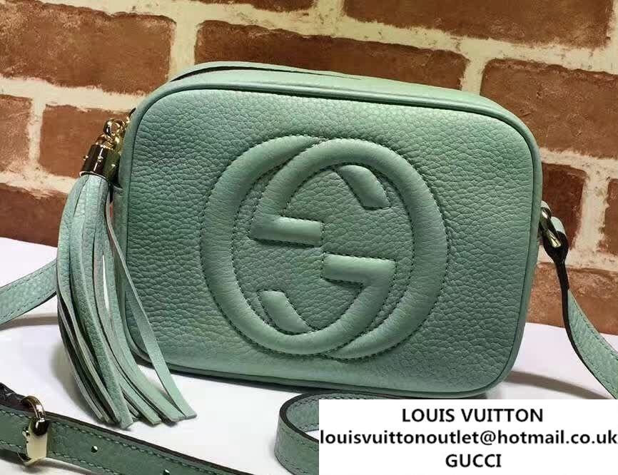 756ae64706ae Gucci Soho Leather Disco Small Bag 308364 Pale Green | Gucci | Gucci ...