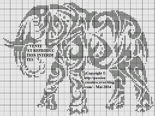 Grille gratuite point de croix el phant tribal cross stitch l phant point de croix - Photos d elephants gratuites ...