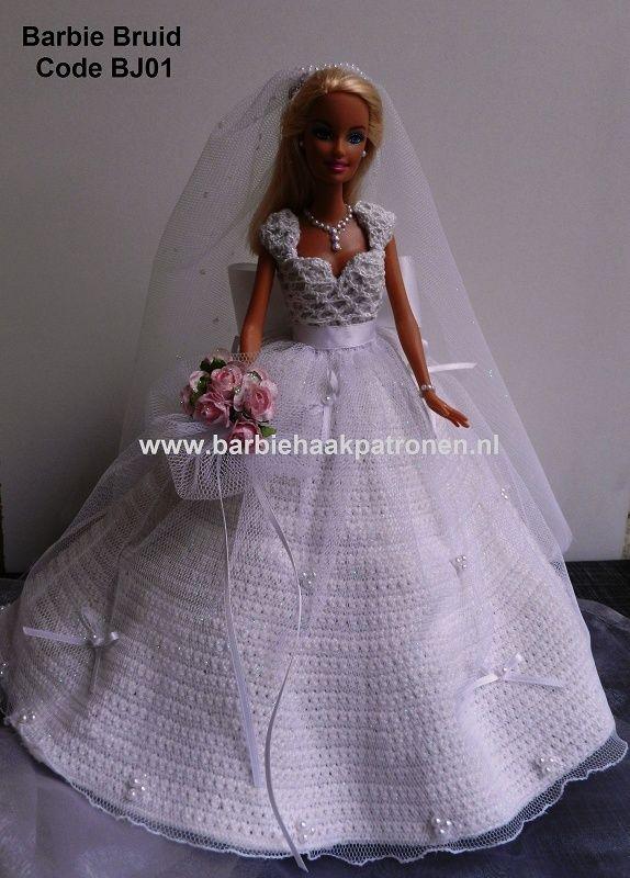 barbiehaakpatronen.nl | Barbie | Pinterest | Barbie, Puppenkleider ...