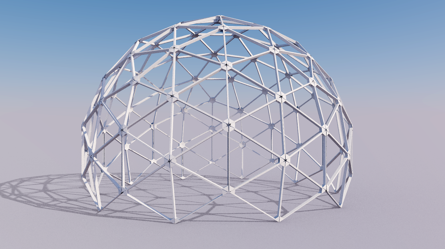 Sketchup Rendering Of A 4v Class Ii Dome For A Greenhouse